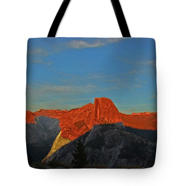 Tote Bag featuring the photograph Yosemite Summer Sunset Abstracted 1 by Walter Fahmy