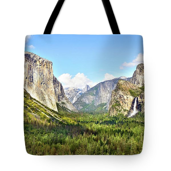 Yosemite Tunnel View Afternoon Tote Bag