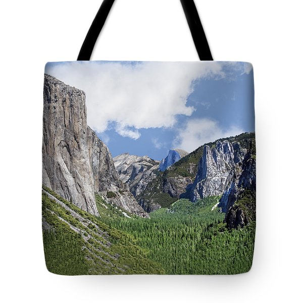 Yosemite Tunnel View Tote Bag