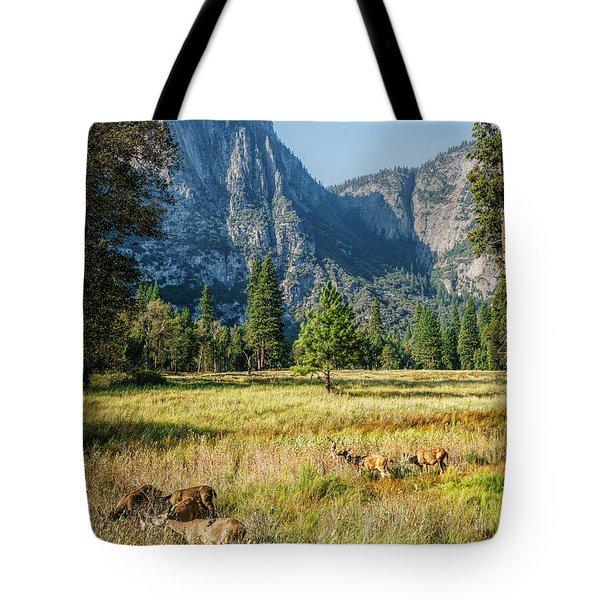 Yosemite Valley At Yosemite National Park Tote Bag
