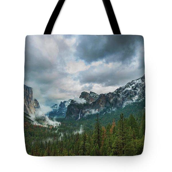 Yosemite Valley Storm Tote Bag