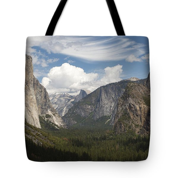Tote Bag featuring the photograph Yosemite Valley - Tunnel View by Harold Rau