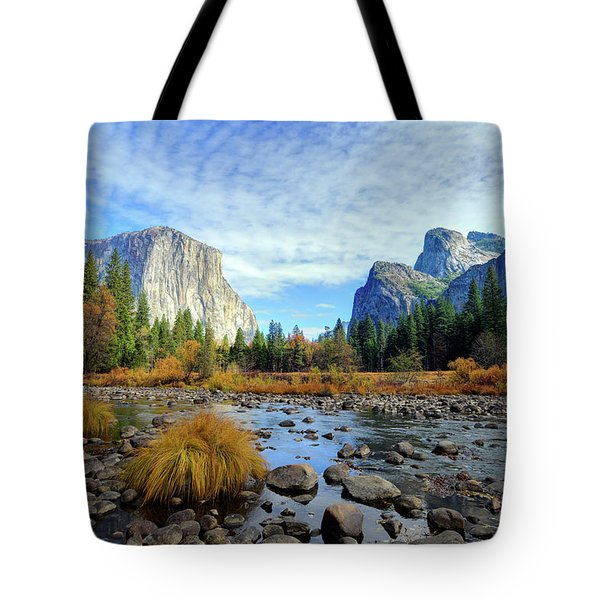 Yosemite Valley View Tote Bag