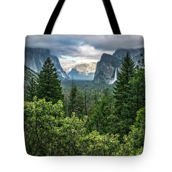 Last Light For Tunnel View Tote Bag