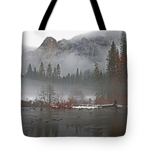 Tote Bag featuring the photograph Yosemite Winter Beginnings by Walter Fahmy