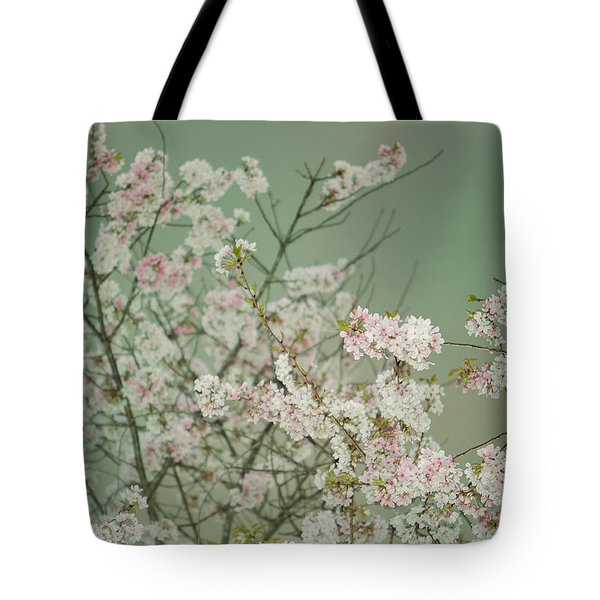 Yoshino Cherries Jade Tote Bag