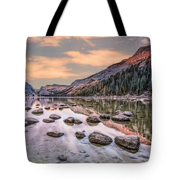 Yosmite And Merced River Sunset Tote Bag