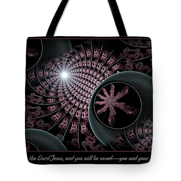 Tote Bag featuring the digital art You And Your Household by Missy Gainer