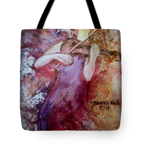 Tote Bag featuring the painting You Are My Hallelujah by Deborah Nell