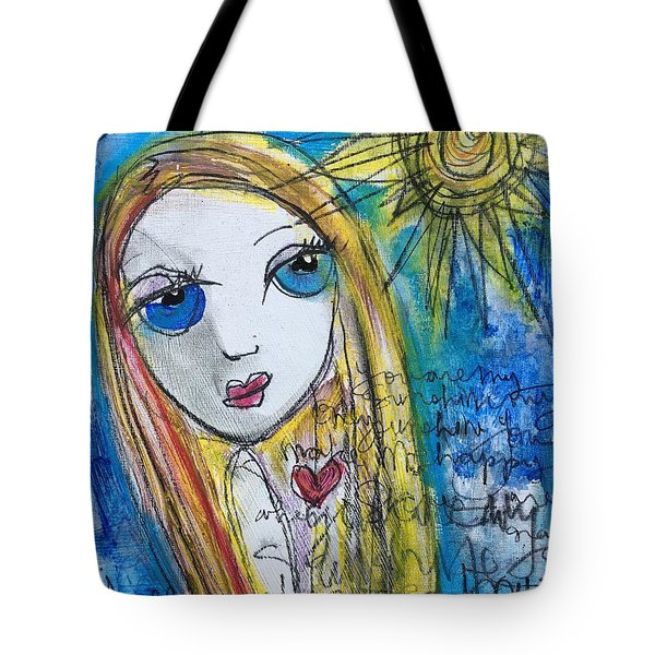 You Are My Sunshine  Tote Bag by Laurie Maves ART