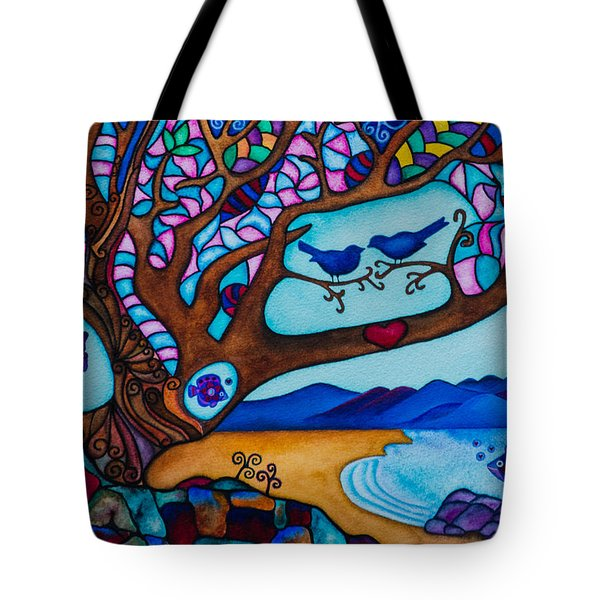 Love Is All Around Us Tote Bag