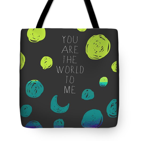 Tote Bag featuring the painting You Are The World by Lisa Weedn