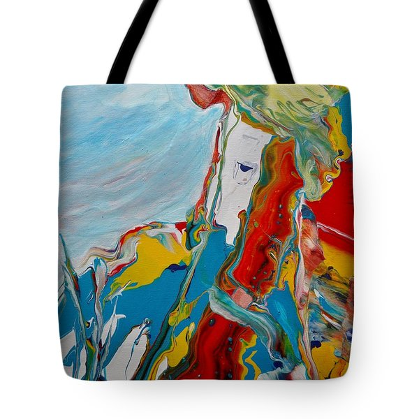 Tote Bag featuring the painting You Bring The Color by Deborah Nell