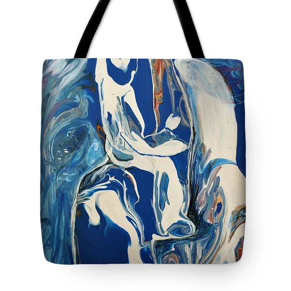 Tote Bag featuring the painting You Hold My Heart by Deborah Nell