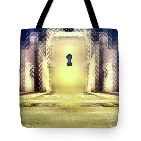 You Hold The Key Tote Bag by Another Dimension Art
