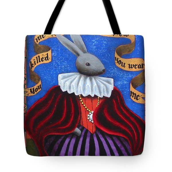 You Killed Me You Ate Me Now You Wear Me Tote Bag by Pauline Lim