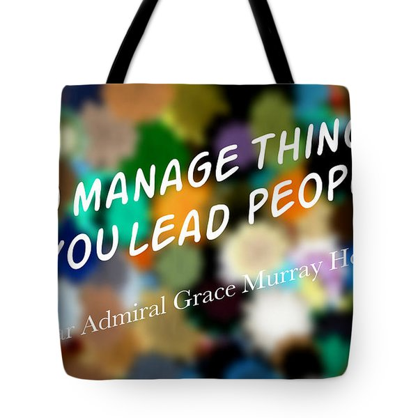 You Lead People Tote Bag