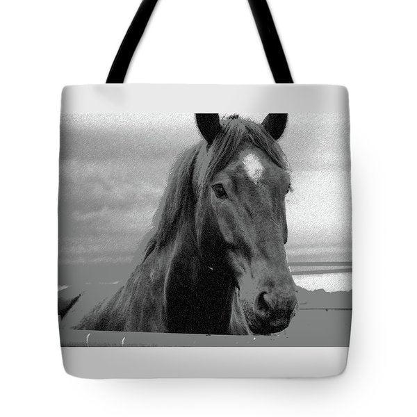 Tote Bag featuring the photograph You Lookin' At Me? by Ellen O'Reilly
