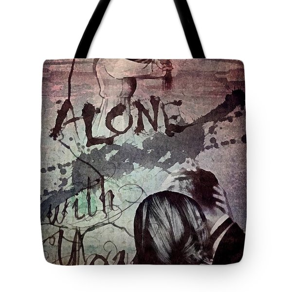 Tote Bag featuring the mixed media You by Mo T