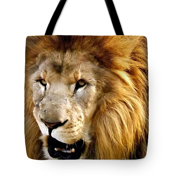 You Talkin To Me Tote Bag by Christy Ricafrente