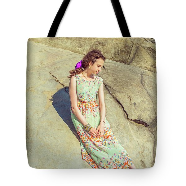 Young American Woman Summer Fashion In New York Tote Bag