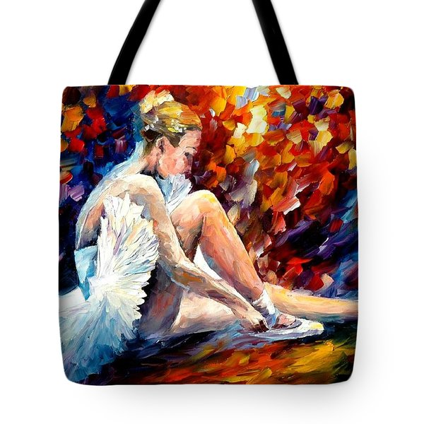 Young Ballerina Tote Bag by Leonid Afremov
