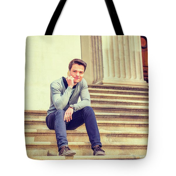 Young College Student 15042515 Tote Bag