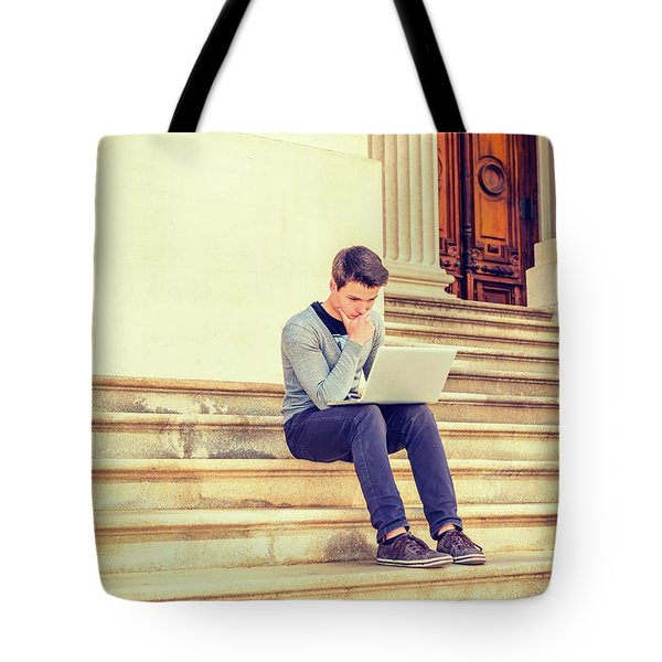 Young College Student Studying In New York 15042516 Tote Bag