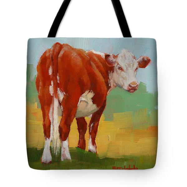 Young Cow Tote Bag by Margaret Stockdale