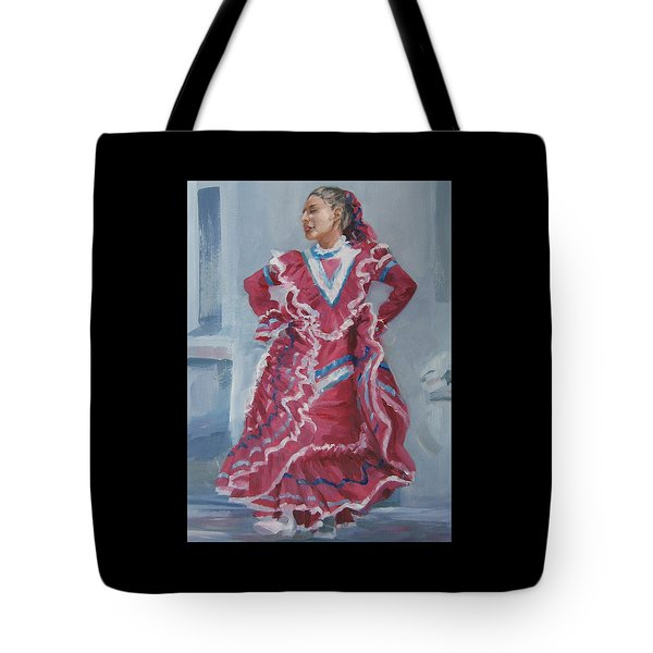 Young Dancer At Arneson Theater Tote Bag by Connie Schaertl