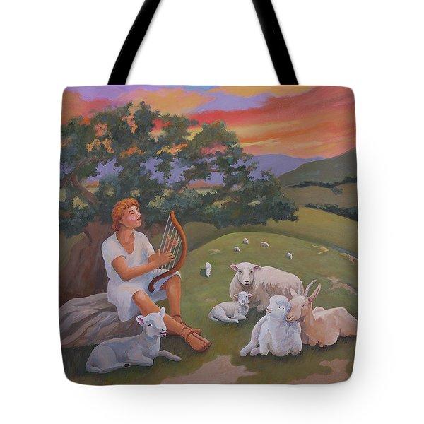 Young David As A Shepherd Tote Bag