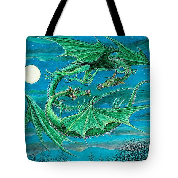Young Dragons Frisk Tote Bag by Charles Cater