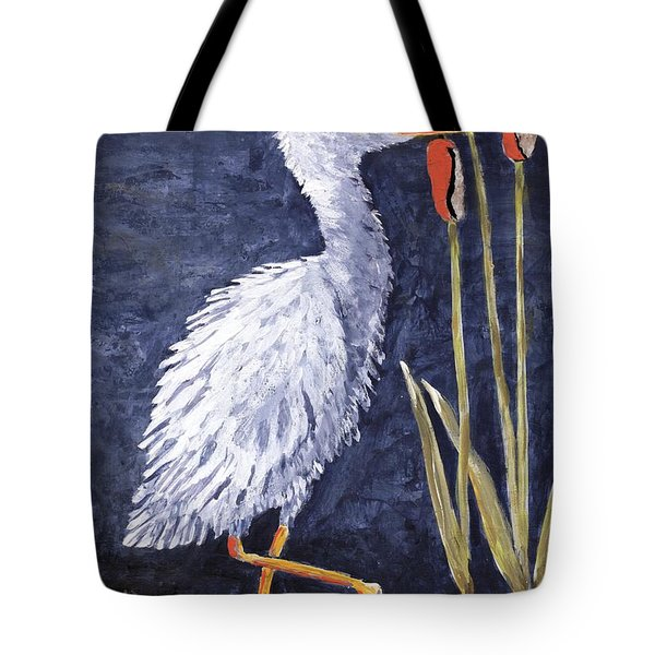 Young Egret Takes A Walk Tote Bag