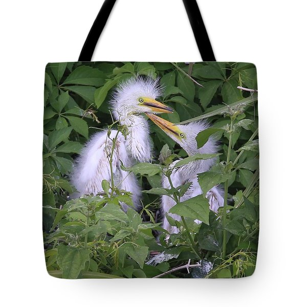 Young Egrets Tote Bag
