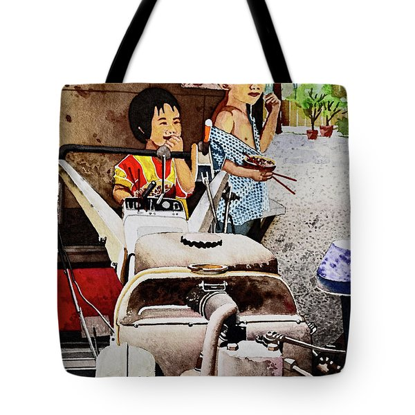Young Farmer's Breaktime Tote Bag