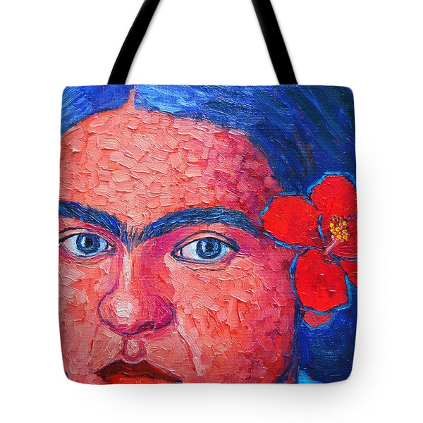 Young Frida Kahlo Tote Bag by Ana Maria Edulescu