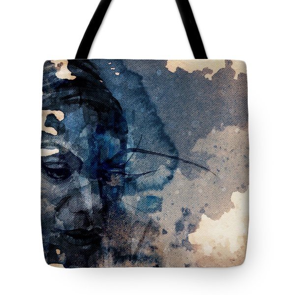 Tote Bag featuring the mixed media Young Gifted And Black - Nina Simone  by Paul Lovering