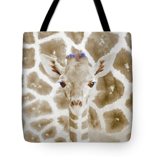 Young Giraffe Tote Bag
