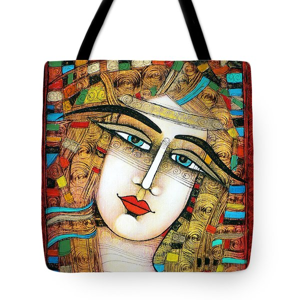 Young Girl Tote Bag by Albena Vatcheva