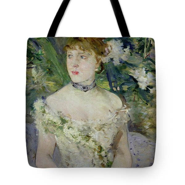 Young Girl In A Ball Gown Tote Bag by Berthe Morisot