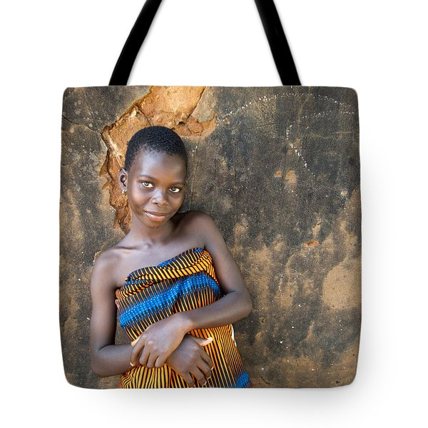 Young Girl In A Togo Village  Tote Bag