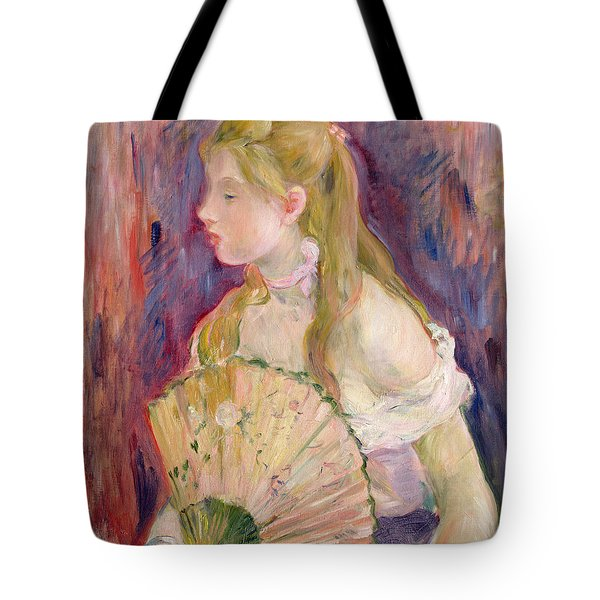 Young Girl With A Fan Tote Bag by Berthe Morisot
