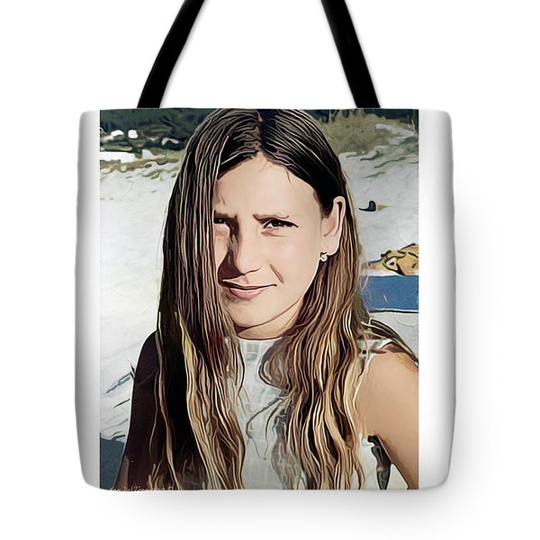 Young Girl, Spain Tote Bag by Kenneth De Tore