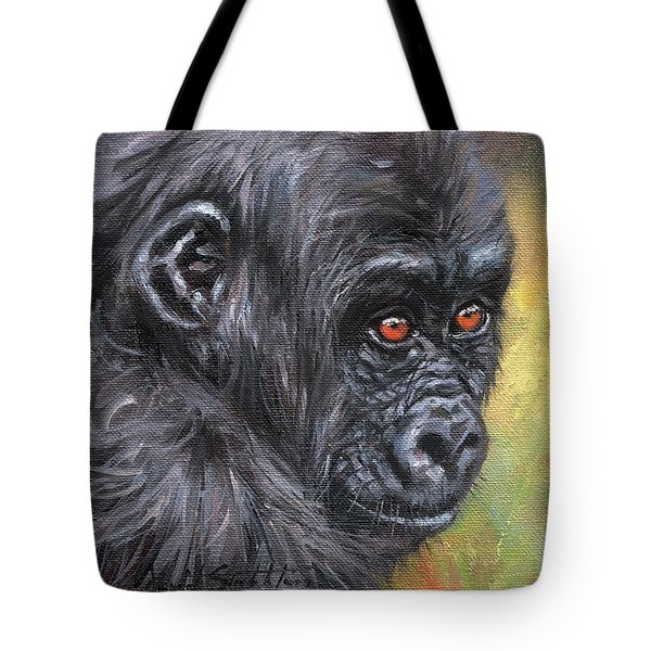 Young Gorilla Portrait Tote Bag