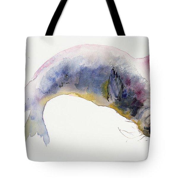 Young Grey Seal Tote Bag