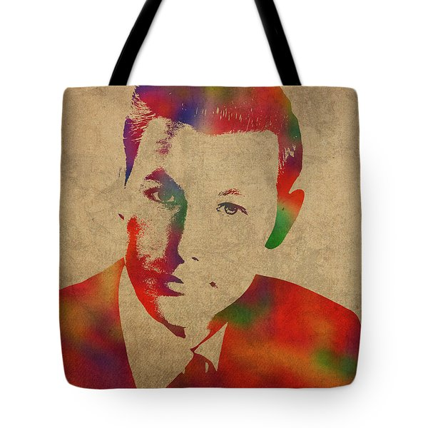 Young Johnny Carson Watercolor Portrait Tote Bag