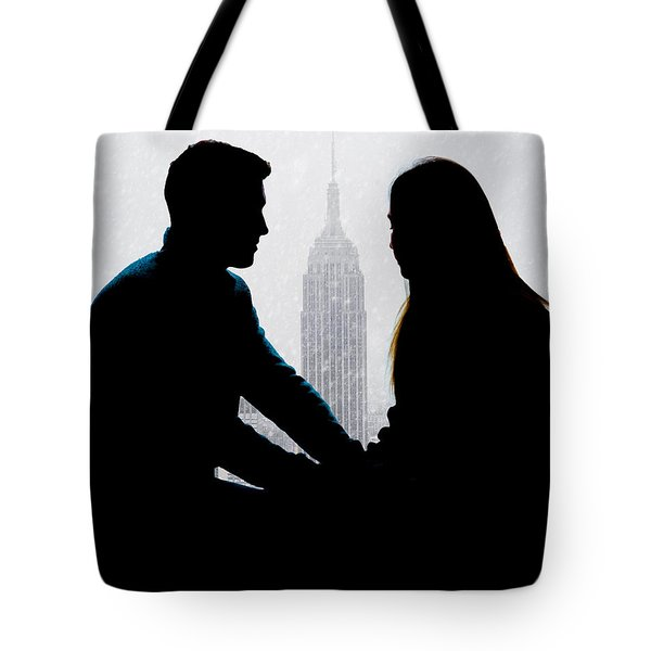 Tote Bag featuring the photograph Young Love     by Chris Lord