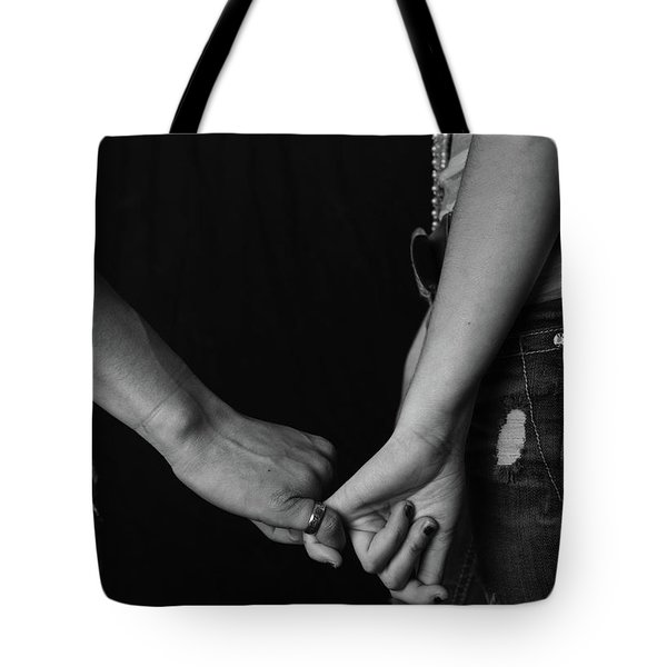 Young Love - Pinky Touch Tote Bag by Scott Sawyer
