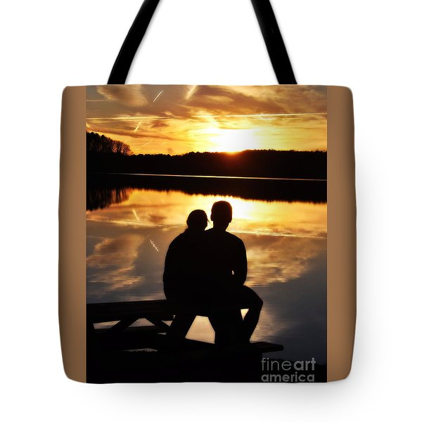 Young Love And Sunsets Tote Bag