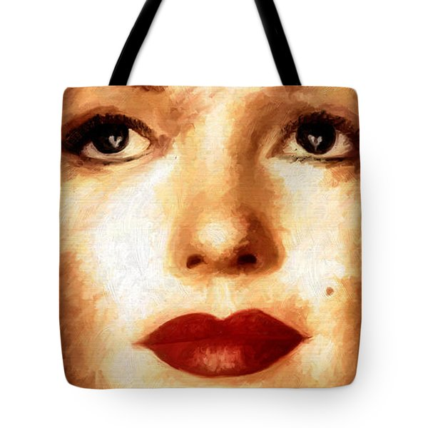 Tote Bag featuring the painting Young M by James Shepherd